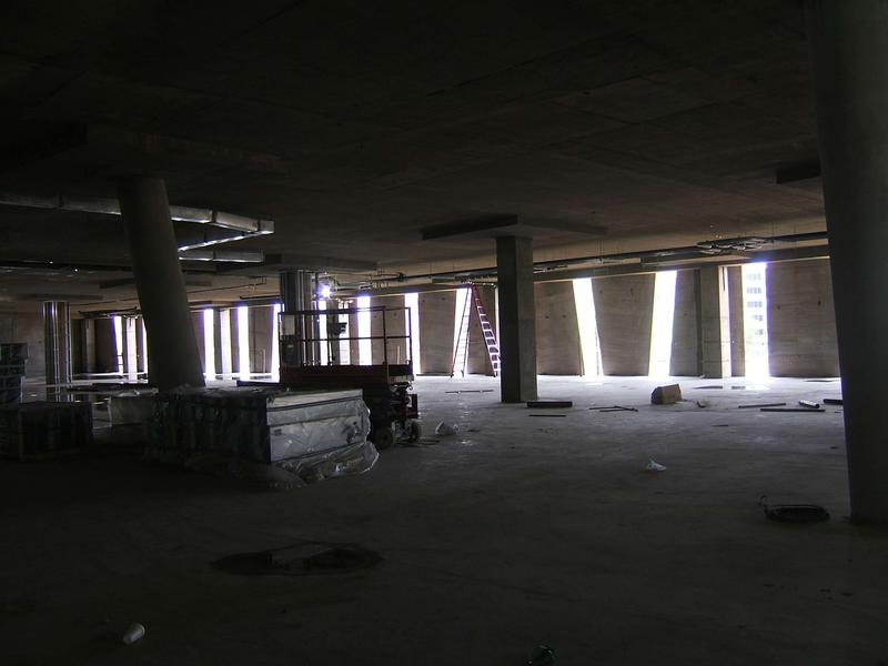 First floor looking south towards data wing
