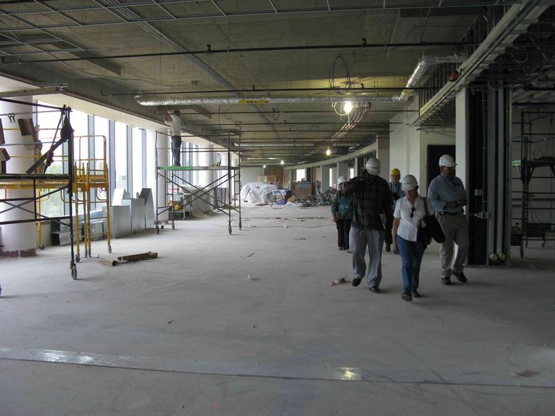 Fourth floor ops area looking towards the east side of the building