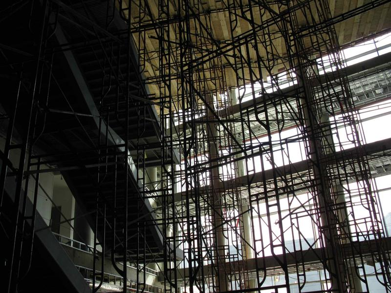 Another view of the scaffolding