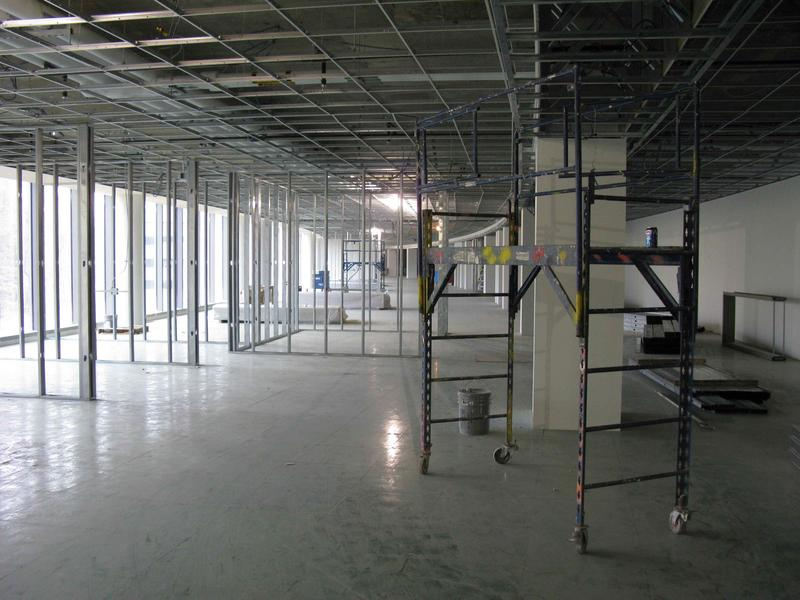 Second floor north wing with raised floor installed (EMC area)