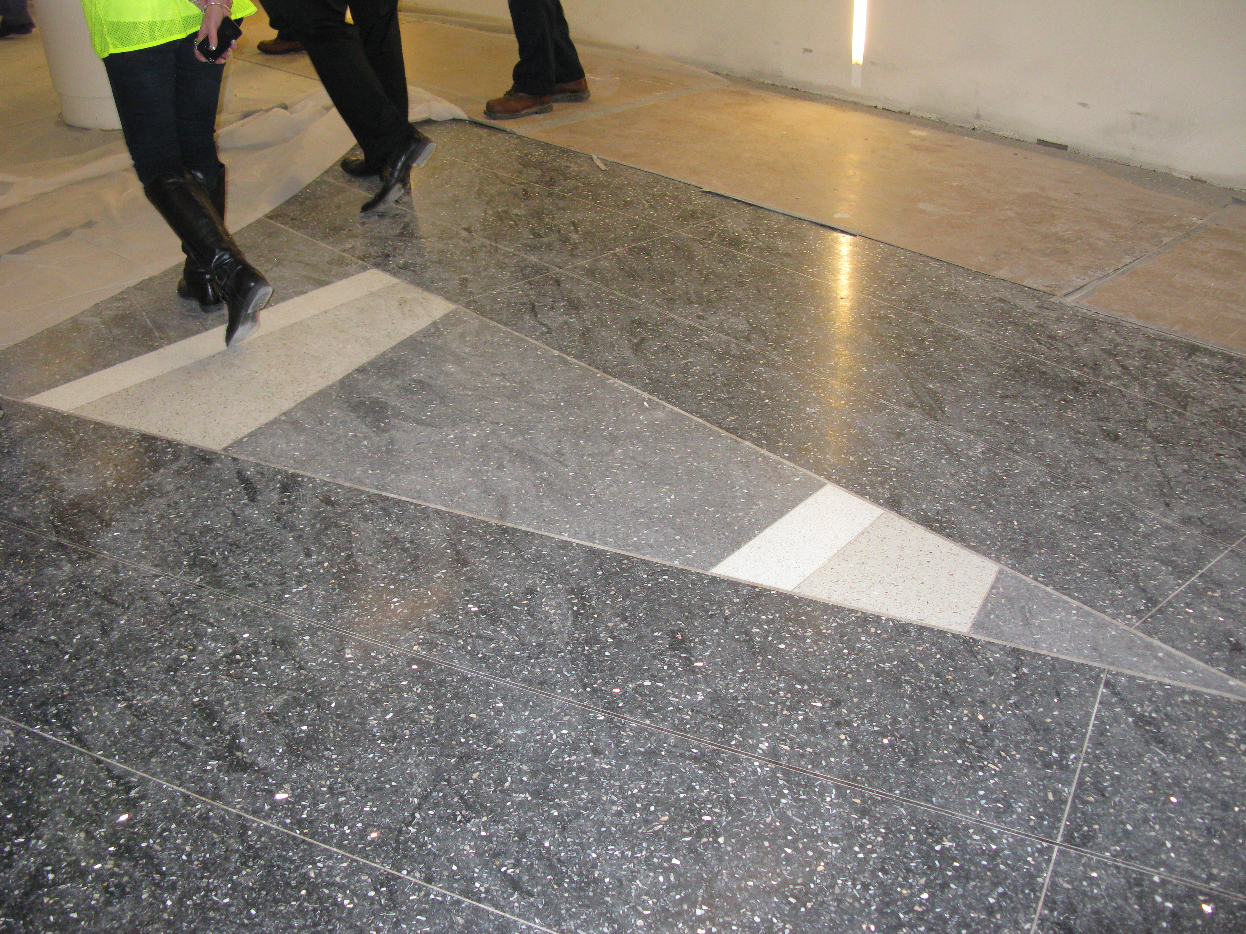 Ncep news construction pictures from the ncwcp site for Design terrazzo