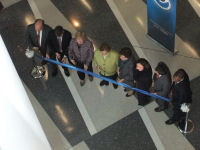 Just prior to ribbon cutting from above.