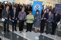 Just after the ribbon cutting: NCEP Director Uccellini, Acting GSA Director Tangherlini, NOAA Administrator Lubchenco, Senator Mikulski, Acting Secretary of Commerce Blank, Acting NWS Director Furgione, UMD President Loh, Prince George.s County Executive Baker.