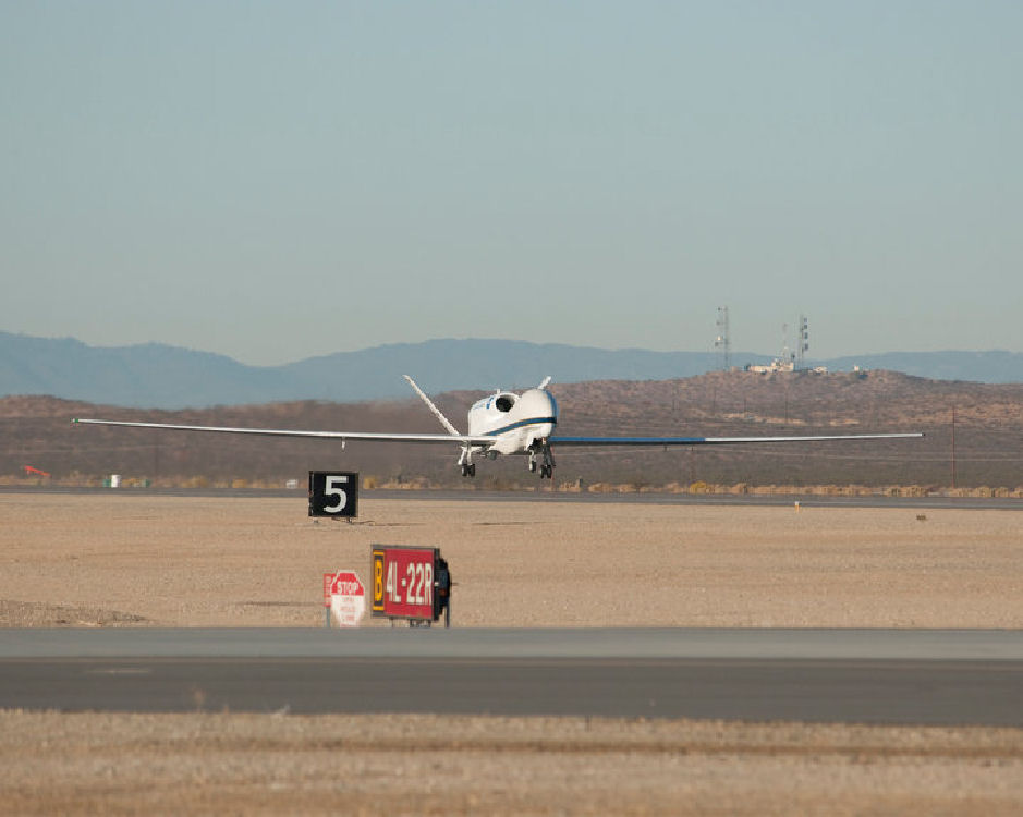 NASA's Global Hawk takes off from NASA's Dryden Flight Research Center in California's Mojave Desert