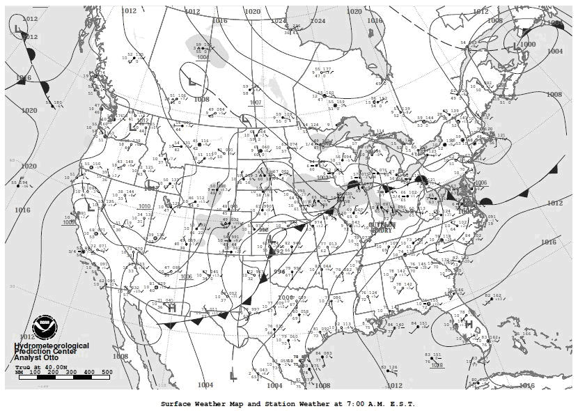 Image of the Daily Weather Map.