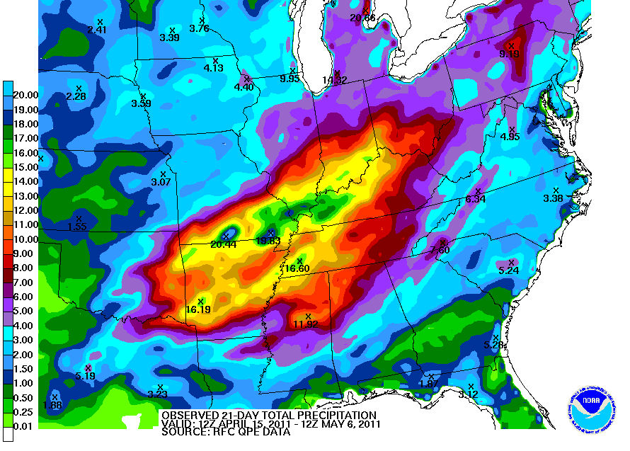 HPC aggregated quantitative precipitation estimate.