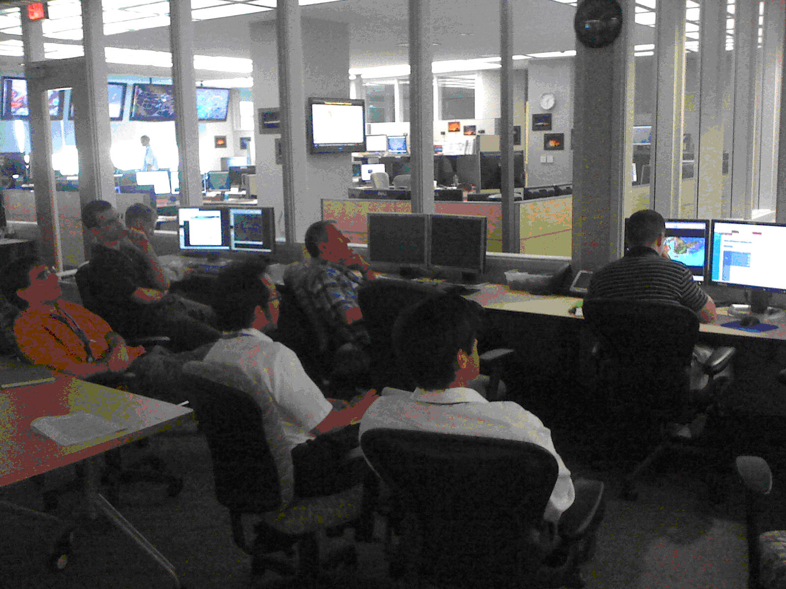 Fig. 1 – SPC, NSSL and NWS Norman forecasters and scientist participating in the 2011 fire weather experiment within the HWT.