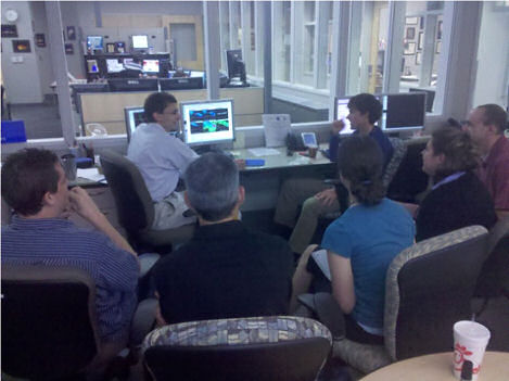 David Novak, HPC Science and Operations Officer, leading a discussion at the 2011 Spring Experiment at the Hazardous Weather Testbed in Norman, OK