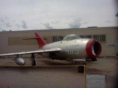 Figure 2. Photo of a Mikoyan-Gurevich (MIG) aircraft that was displayed outside the Federal Pavilion during the airshow.