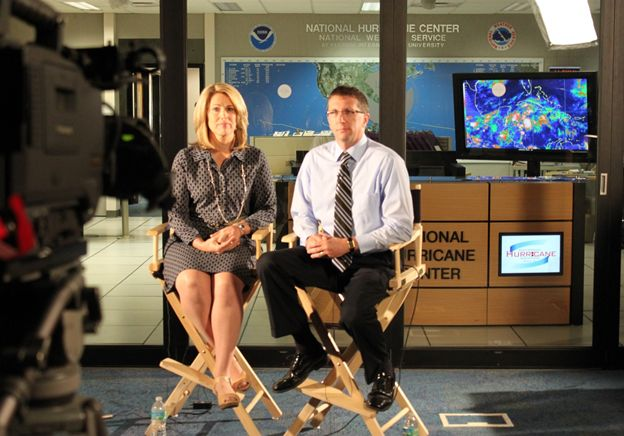 FLASH CEO President Leslie Chapman Henderson and NHC Director Dr. Rick Knabb get ready for another live interview to discuss the flooding dangers from hurricanes and ways to know your risk.