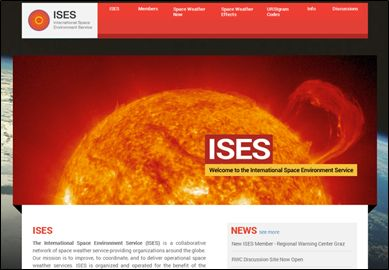International Space Environment Service web site was released in August, 2013 (www.spaceweather.org).